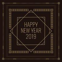 Art Deco Style Neujahr Illustration vektor