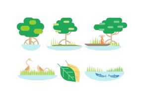 Kostenlose Mangroven-Vektor
