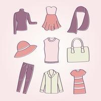 Kvinnors klädervektor