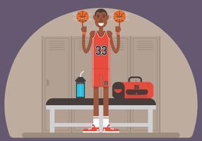 Übertriebener Basketballspieler vektor