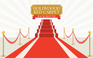 Roter Teppich Hollywood vektor