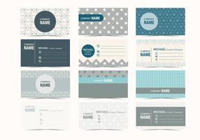 Grafisk design visitkort vektor
