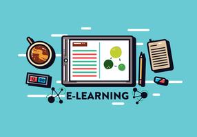 e-lärande vektor