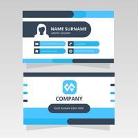 Minimalistiskt modernt visitkort för grafisk design