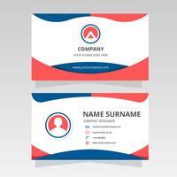 Modernt visitkort för grafisk designervektor