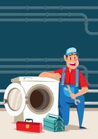 Tvättmaskin reparatör vektor