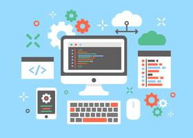mjukvara ingenjörer koncept design vektor