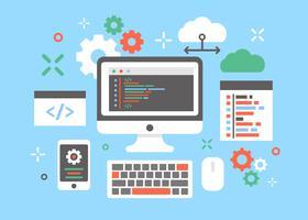 Software-Ingenieur-Konzept-Design-Vektor vektor
