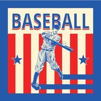 Weinlese-Baseball-Vektor