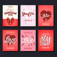 Valentinskarte Vektor Sammlung