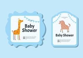 Baby-Duscheeinladungskarte vektor