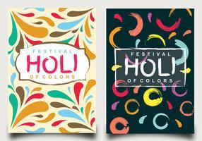 Holi Festival av färger affischdesign vektor