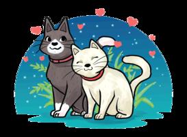 Geschöpfe in der Liebes-Vektor-Illustration