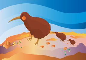 Kostenlose Kiwi Bird Vector Illustration
