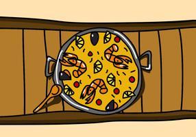 Gericht Paella vektor