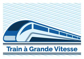 Trainieren Sie eine Grande Vitesse vektor