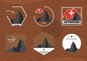 Matterhorn Berg der Alpen vektor