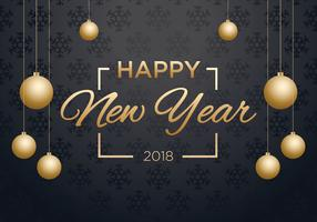 Frohes neues Jahr 2018 Hintergrund vektor