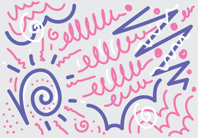 squiggle doodle vektor