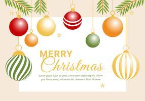 Gratis Flat Design Vector Holiday Greeting