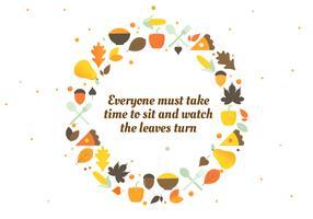 Herbst Danksagung Vektor Hintergrund