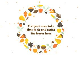 Höst Thanksgiving Vector Bakgrund