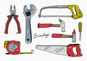 Bricolage Handdragen Vector Illustration