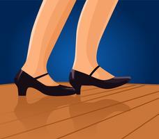 vektor kran dans fötter illustration