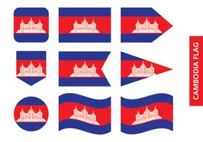 Kambodja Flagga vektor