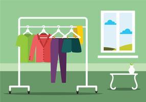 Kleiderständer-Illustration vektor