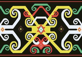 dayak mönster design vektor