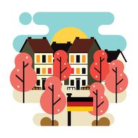 Flache Art-Illustration von Frühjahr Bonn Deutschland vektor