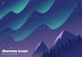 Wunderschöne Aurora-Landschaft vektor