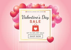 Alla hjärtans dag försäljning vektor