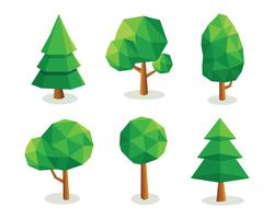 Niedrige polygonale Bäume vektor
