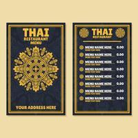 Thai menymall vektor