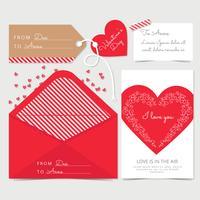 Vektor-Valentinstagskarte vektor