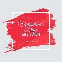 Valentinstag Verkauf Hintergrund vektor