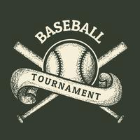 Weinlese-Baseball vektor