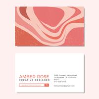 Schöne Pfirsich-Beschaffenheits-Grafikdesign-Visitenkarte