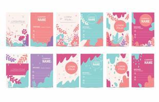 Bunter Grafikdesign-Visitenkarte-Vektor
