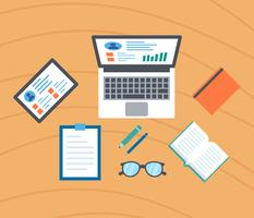 Ikonische E-Learning-Vektoren vektor
