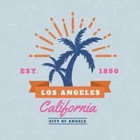 Kostenlose Los Angeles Vektor Hintergrund