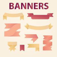 moderna banderoller vektor