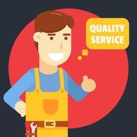 Reparationsman Kvalitets Service illustration vektor