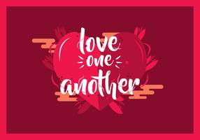 Liebe einander Typografie-Vektor vektor