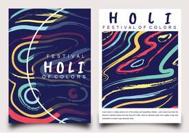 Holi Festival av färger affischdesign