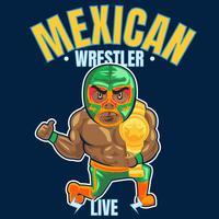 mexikanska brottare 6 vektor