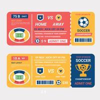 Fußball-Championship-Ticket-Vektor vektor