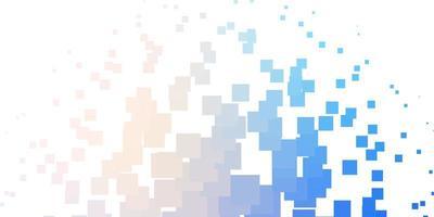 hellrosa, blaues Vektorlayout mit Linien, Rechtecken. vektor